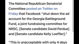 WoW! The GAUL ! Facebook SHUTS Down Fundraising Pages For Georgia Republicans!