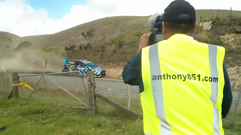 Ken Block racing at the NZRC 2015