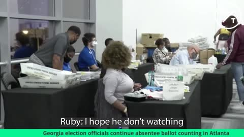 Watch - Fulton County Elections Caught On Video Discussing Stealing Votes