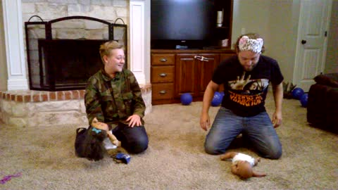Dad And Son Blindfolded Diaper Changing Challenge