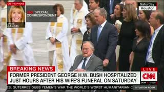 Former President George H.W. Bush hospitalized hours after his wife's funeral - Video