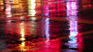 Amazing Mixed Colors With Street Rains Flash Rainbow