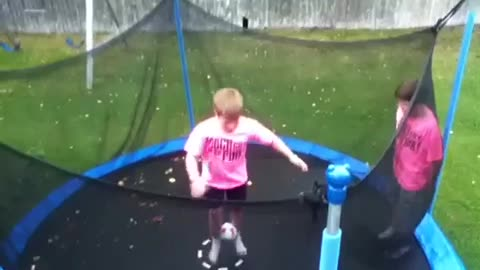 Epic Trampoline Win Caught On Camera