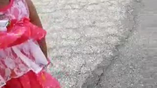 Little Girl Found by Gilan Springs Rd Near City of Hemet - Video