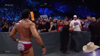 Gronk Has Another Showdown with Jinder Mahal, THROWS Beer in His Face on WWE Smackdown - Video