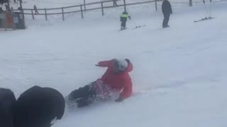 Red jacket snowboard cant flip - Video