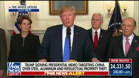 Trump Signs Memorandum Placing Tariffs on China, Stresses Cooperation and Future Action