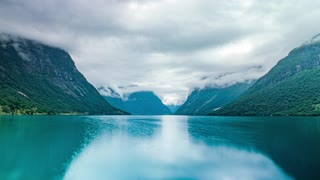 Beautiful Nature Norway Natural Landscape Lovatnet Lake Lodal Valley