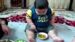 Kids eating food