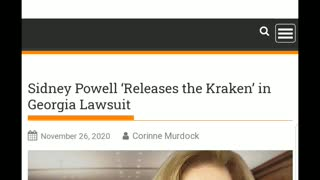 Sidney Powell Releases Kraken and Files in Georgia!