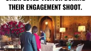 Watch Trump Surprise a Young Couple...