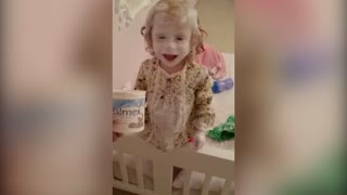 Mischievous Toddler Covers Herself In Diaper Rash Cream - Video