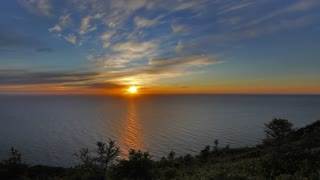 Sunset Time Lapse off of Skyline Trail, Cape Breton Nova Scotia.  - Video