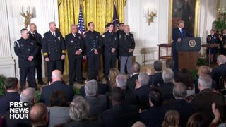 Trump Awarded Medal of Valor to 9 First Responders Who Helped Take Down Mass Shooters - Video