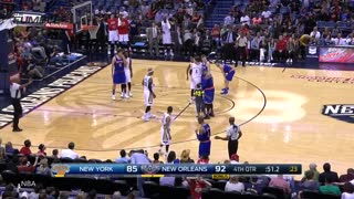 Kid Hugs Carmelo Anthony on Court, Easily Gets Past Security - Video