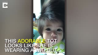 Is It A Wig? Adorable Tot Has Full Head Of Hair - Video
