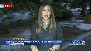 Father of 2 Shoots Burglary Suspect Found Crouching Outside His Children's Bedroom Window - Video