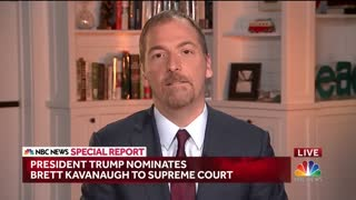 "NBC's Chuck Todd: Brett Kavanaugh Is A ""Very Confirmable Pick"" - Video"