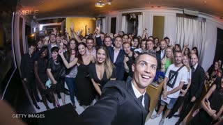 Cristiano Ronaldo Taking Selfies With All of His Fans - Video