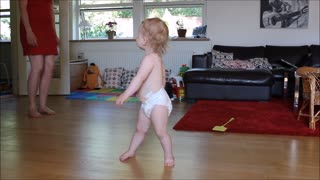 Talented Toddler Pulls Killer Dance Moves On The Living Room Floor - Video