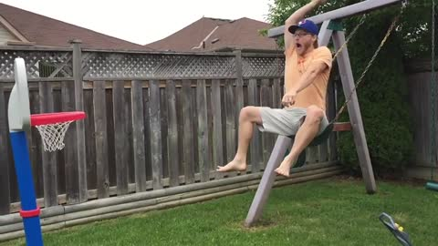 Cool Uncle Amazes Nephews With Incredible High-Flying Dunk
