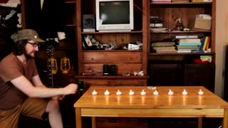 9 candles extinguished with a single punch - Video