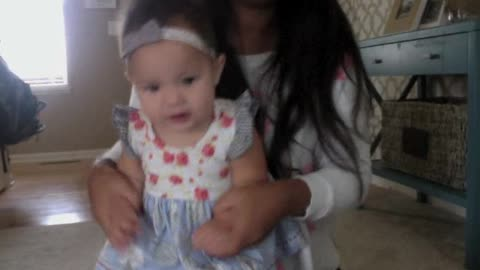 Cute baby dances along to 'Thriller'