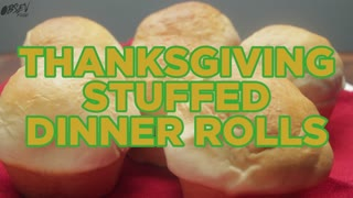 How To Make Thanksgiving Stuffed Dinner Rolls - Full Recipe - Video