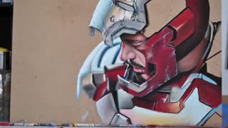 Hyperrealistic speed Painting of Iron Man - Tony Stark - Video