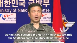 South Korea fires rounds at North in response to shell - Video