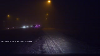Foggy Road Car Crash - Video