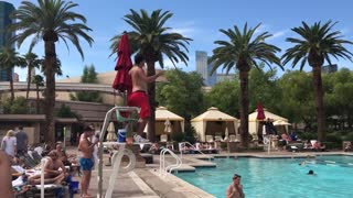 Lifeguard Strip Tease - Video