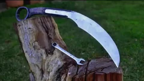 This Karambit knife started life out as a wrench