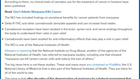 Marijuana Kills Cancer Cells, Admits Cancer Institute