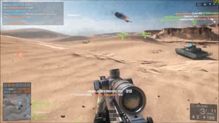 Sniping Helicopter in  bf4 - Video