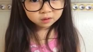 Adorable little girl explains why she doesn't hate school - Video