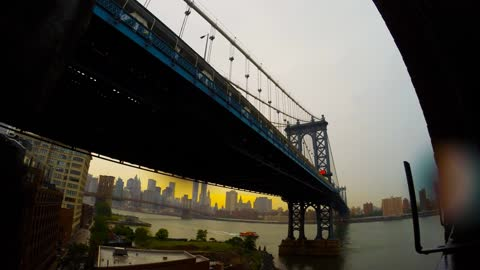 Time-lapse of NYC storm from Brooklyn