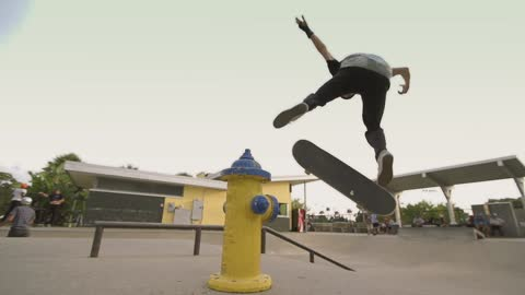 Super slow motion skateboard tricks