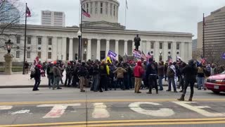 Patriots Giving Antifa Scums A Beating