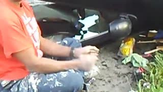Intoxicated Person Got Flipped by Toyota - Video