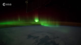 Flying through an Aurora in orbit