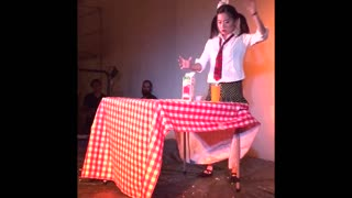 Girl Perfects Robot Dance Routine Leaving Audience Amazed  - Video