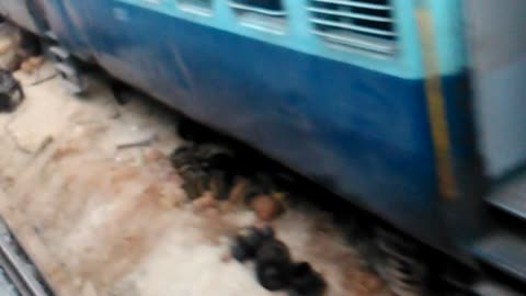 Passenger Captures a video of a Train that met with an accident.