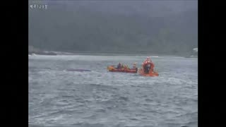 South Korean boat capsizes, several dead - Video