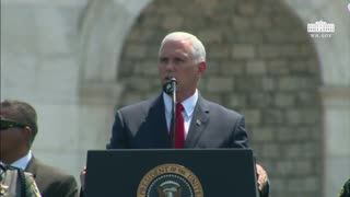 Vice President Pence Gives Speech Supporting The Police