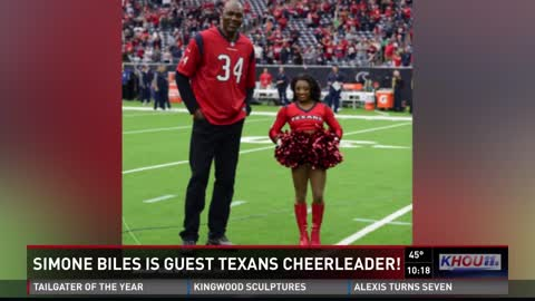 Simone Biles Learned All Houston Texans Cheer Routines in 3 Days,Everyone Is Looking at Her Hair