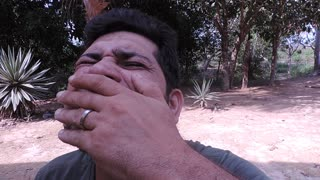 Man Puts A Tarantula In His Mouth - Video
