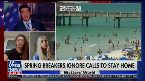 'Watters' World' questions spring breakers about partying amid coronavirus outbreak