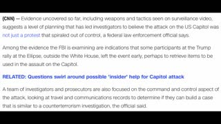 CNN Infers Capitol Riots Were Planned