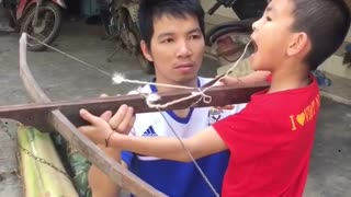 Using a Crossbow to Pull a Tooth - Video